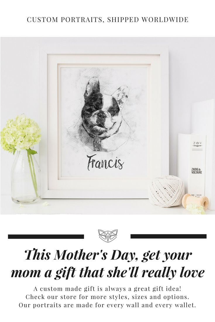 This one of a kind pet portrait will be a treasured item in your home. Because of its simplicity it is great as a dog lover gift and looks awesome in any room that it is placed in...