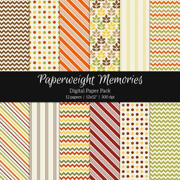 Patterned Paper - Autumn Falls by Paperweight Memories on Creative Market (http://crtv.mk/f0M61)