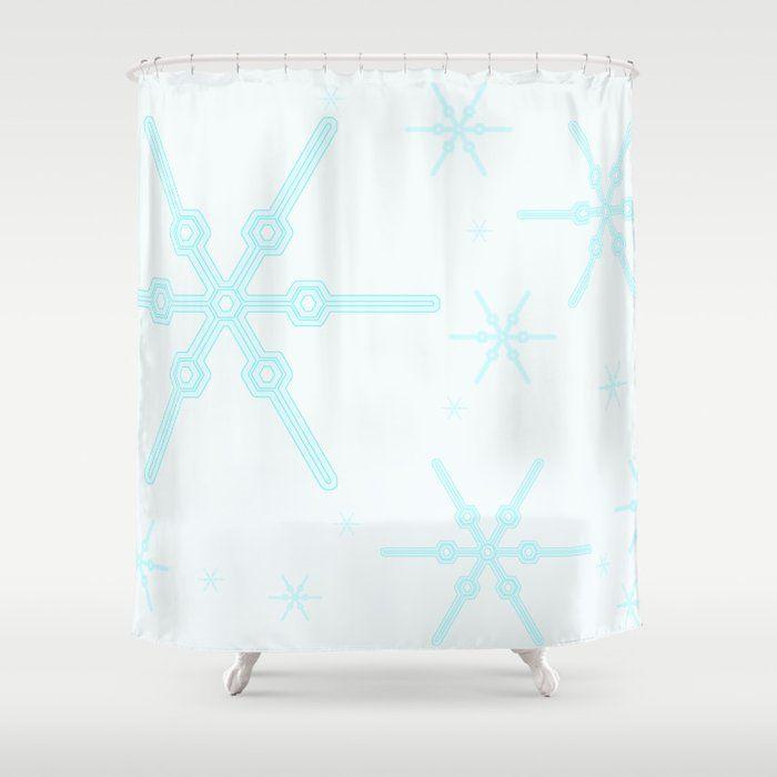 Snowflake 1 Curtains Shower Snowflakes