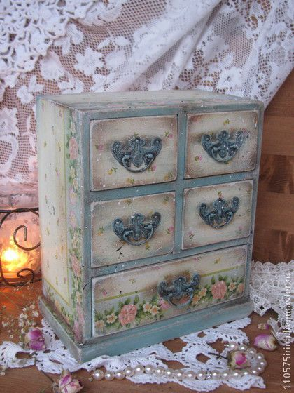 The design is charming! this is a miniature, but the design can be used for a DIY piece of furniture.