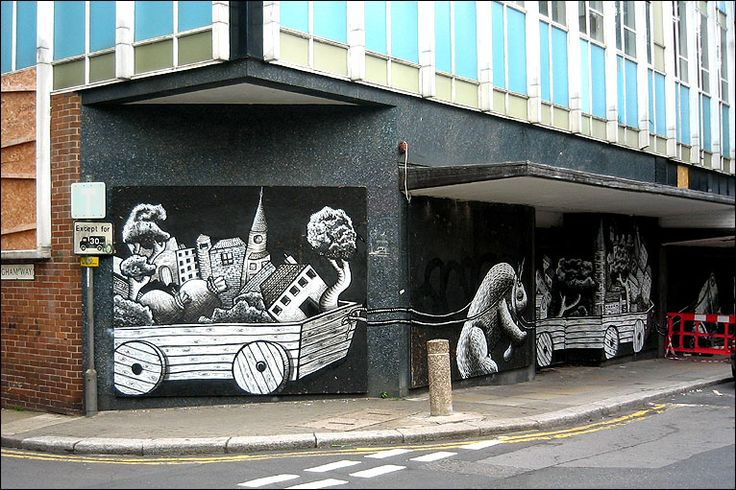 Graffiti on the Moor by Phlegm  #socialsheffield #sheffield #design #streetart #graffiti #urbanex #art