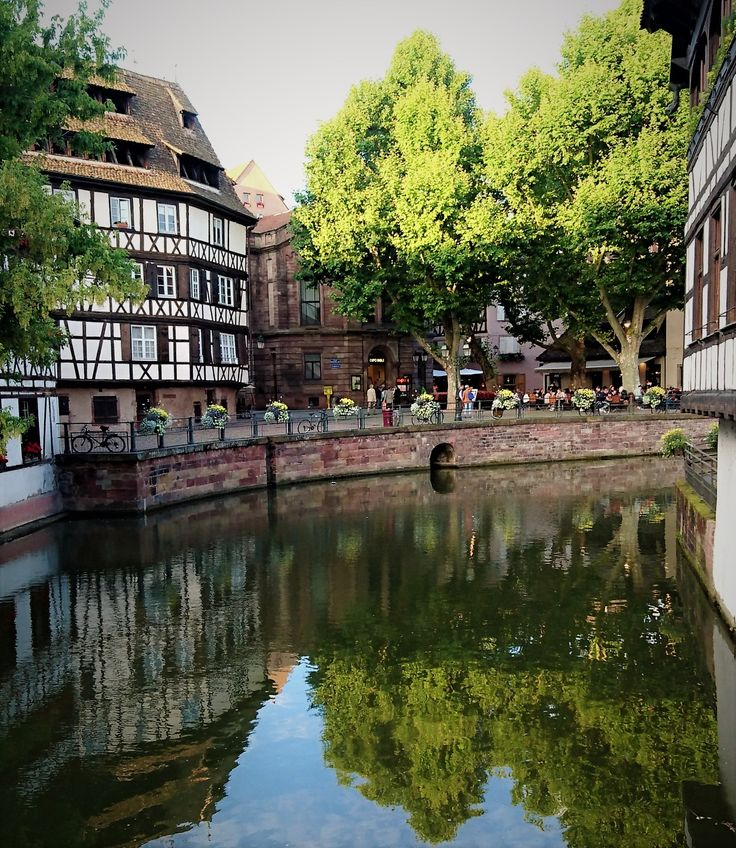 Reflecting the perfection of Petite France, Strasbourg.