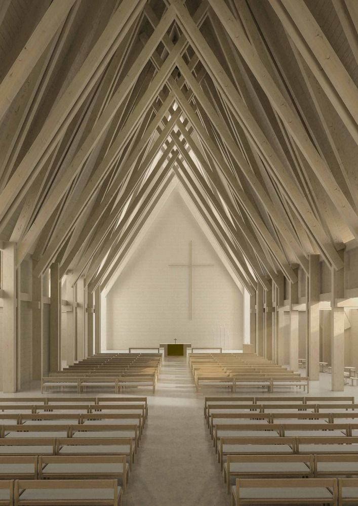 Gallery of K2S Architects Wins Competition to Replace Fire-Razed Church in Ylivieska, Finland - 14