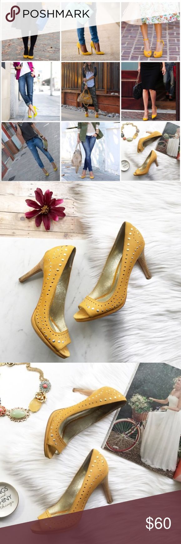 Mustard Shoes! Anthropologie shoes! Preloved but still in good condition:) Anthropologie Shoes Heels