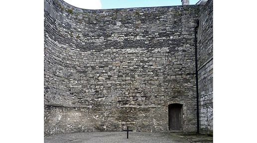 Kilmainham Gaol, place of execution of the leaders of the 1916 Rising. Photo: I was so overwhelmed when I stood here in person, I couldn't even take my own pictures.