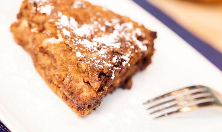 Alpro - Chunky Choc Bread Pudding - Dark chocolate bread pudding with Alpro Hazelnut Drink