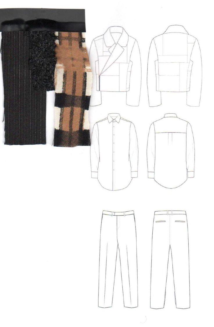 Fashion Sketchbook - fashion design drawings & textile swatches; fashion portfolio // Lori Stayte