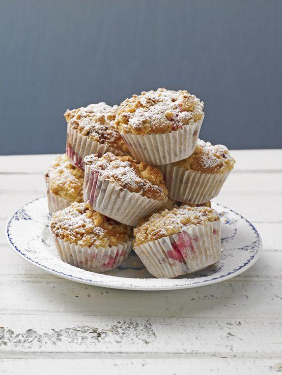 Himbeer-Muffins mit Streuseln