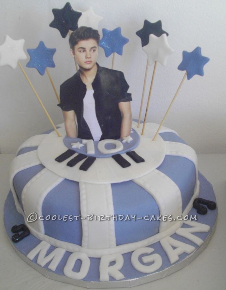 Coolest Justin Bieber Birthday Cake... This website is the Pinterest of birthday cake ideas