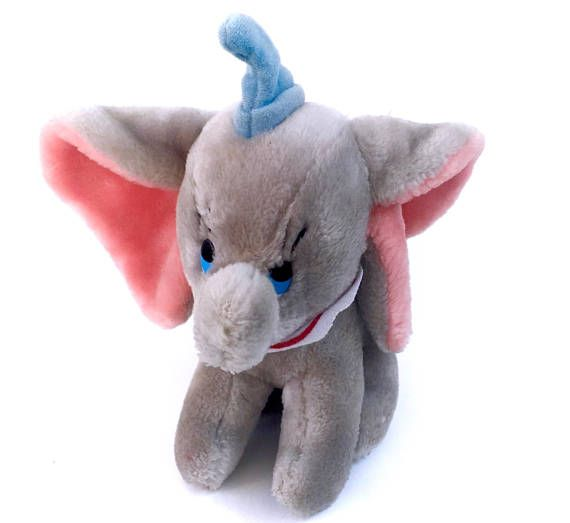 Vintage Dumbo Elephant Plush Stuffed Animal Baby Disney Babies! www.CuteVintageToys.com  Hundreds Of Kawaii Vintage Toys From The 80s & 90s! Follow Me & Use The Coupon Code PINTEREST For 10% Off Your ENTIRE Order!  Dozens of G1 My Little Ponies, Polly Pockets, Popples, Strawberry Shortcake, Care Bears, Rainbow Brite, Moondreamers, Keypers, Disney, Fisher Price, MOTU, She-Ra Cabbage Patch Kids, Dolls, Blues Clues, Barney, Teletubbies, ET, Barbie, Sanrio, Muppets, & Fairy Kei Cuteness!