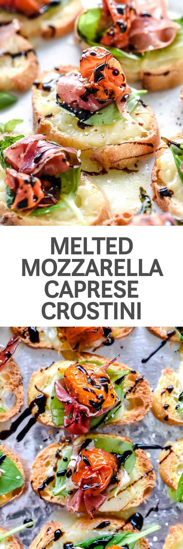 This is the secret for an easy caprese appetizer that tastes great any time of year, even when the grocery store is plagued with less-than-flavorful winter-time tomatoes #appetizers #starters #Italianfood