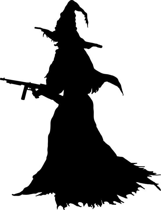 Onde, Halloween, Maskingevær, Magi, Skræmmende, Silhuet
