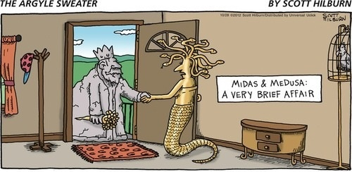 Omigosh! I wish this is how king Midas and medusa really died I. Percy Jackson and the Olympians