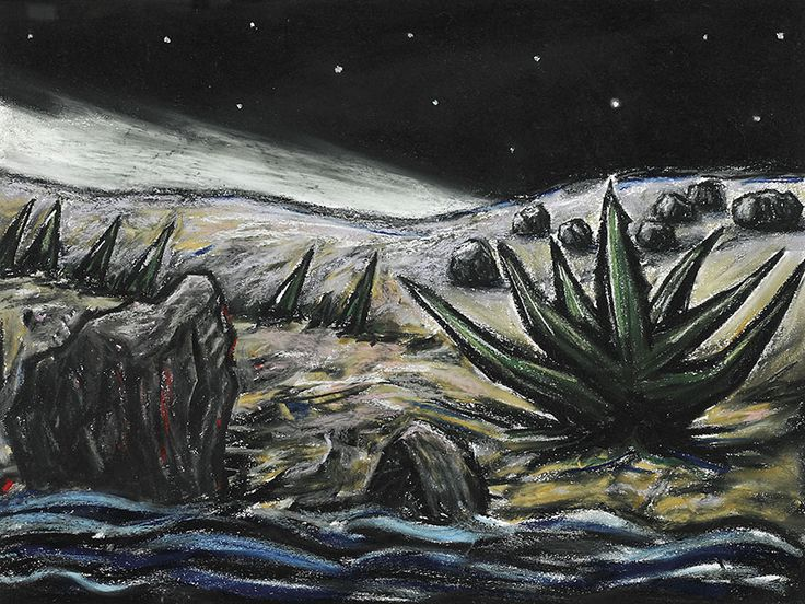 """Drawing (Stars and River)"" by Peter Booth, 2000"