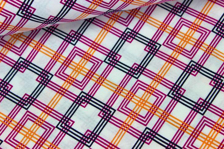 Designerstoffe USA - Stoff - Adirondack - Weiß/Lila - Michael Miller - ein Designerstück von alles-fuer-selbermacher bei DaWanda