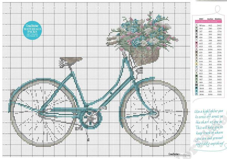 Cross-Stitcher---Nº-262---(55)Adorable. It even looks like my bike.