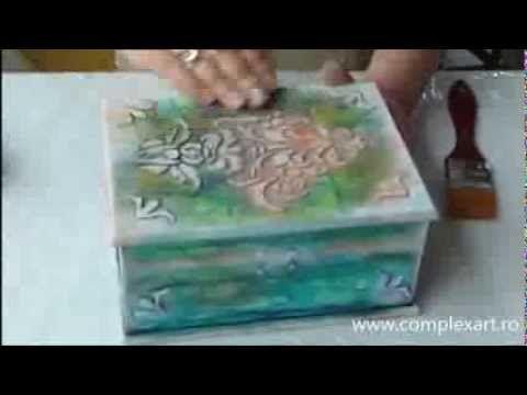Como hacer transferencia sobre madera - Efecto labrado - Martha Cacacio - YouTube