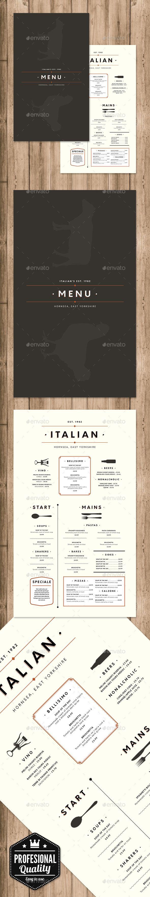 831 besten Restaurant Menu Template & Design Bilder auf Pinterest ...