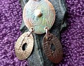 FAUX FEATHERS Abstract Penny Pendant