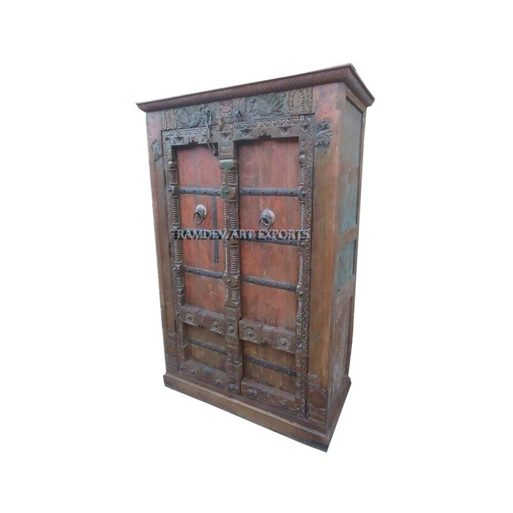 Indian Gujrati Door Wardrobe | Indian Gujrari Door Almirah | Indian Gujrati Door Cabinet | Indian Gijrati Door Armoire | Rustic Indian Gujrarti Door Cabinet