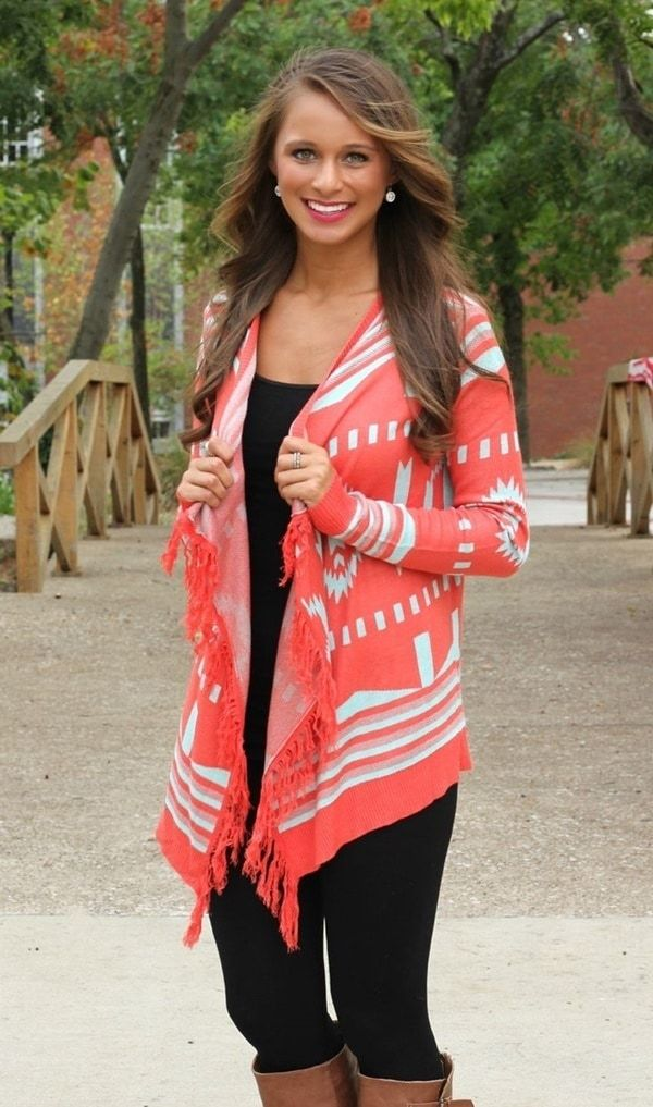 Stylish Chic Long Cardigan Outfits For Ladies (35)