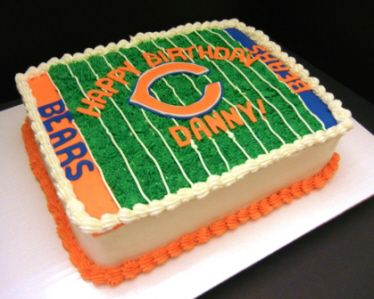 Confection Gallery--Chicago Bears Cake