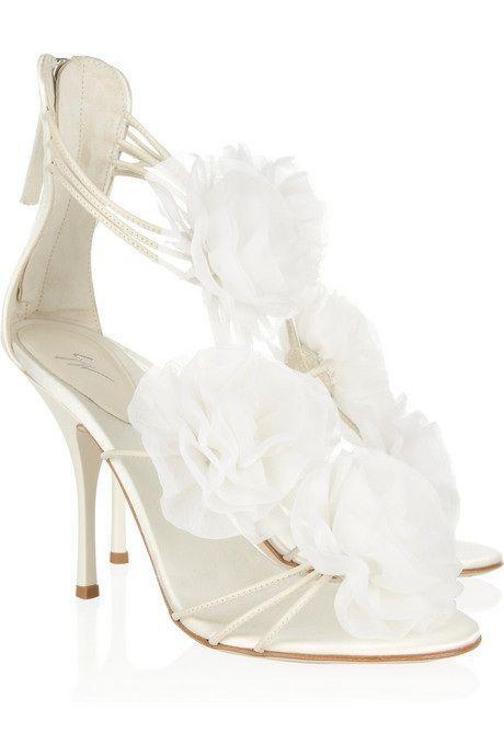 Giuseppe Zanotti Rosette-embellished satin sandals