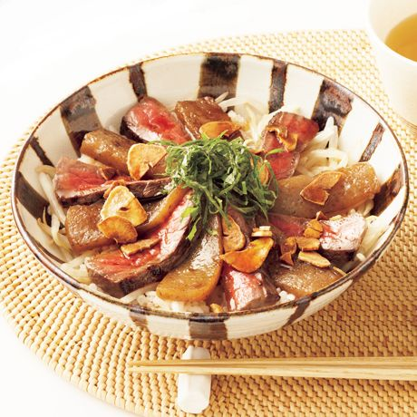 牛こんステーキ丼   小林まさみさんのどんぶりの料理レシピ   プロの簡単料理レシピはレタスクラブニュース