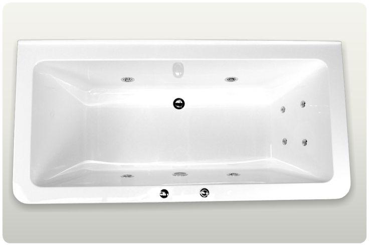Spa Bath Rosemary Back to Wall