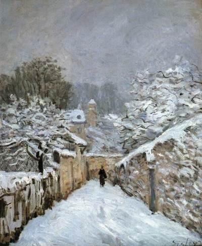 Alfred Sisley  Snow at Louveciennes  1878Oil on canvas, 61 x 51cmMusée d'Orsay, Paris