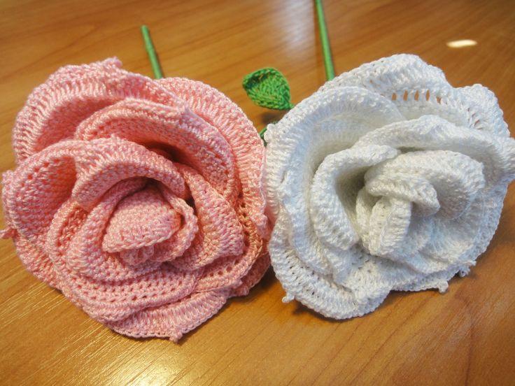 Большая роза Часть 5 Rose Crochet Part 5