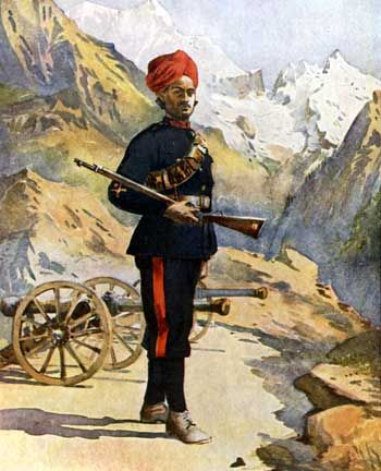 Battle of Peiwar Kotal 2nd December 1878 - Gunner of mountain battery