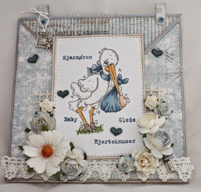 Bente's hobbyblogg: Babytema hos KREATIV SCRAPPING i oktober :)