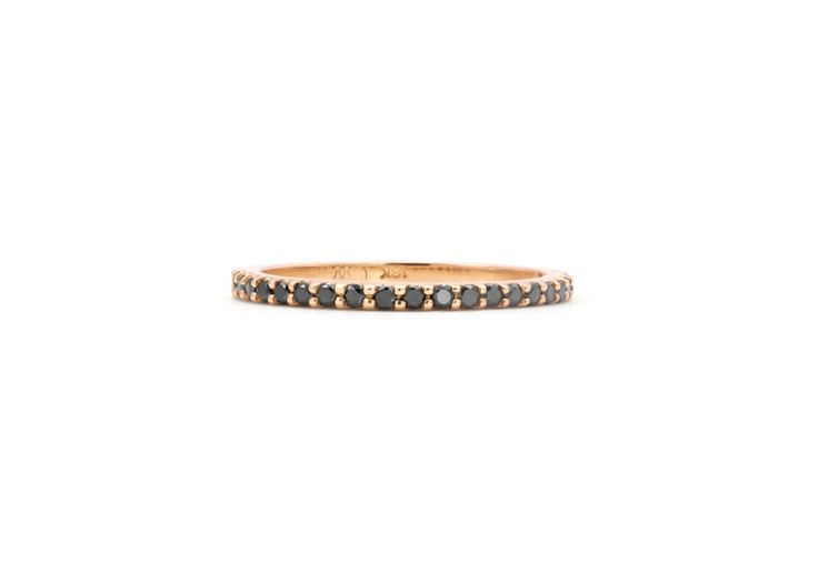 Cushla Whiting - MOLLY 1.4 black diamond wedding band. #cushlawhitingrings #weddingbands