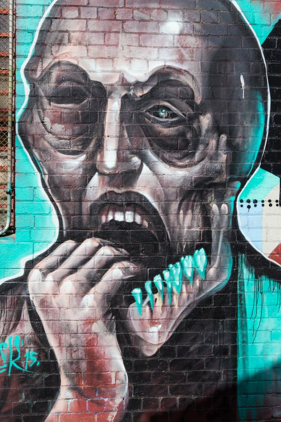 Mural by Hancock on York St, Collingwood #streetart #melbourne