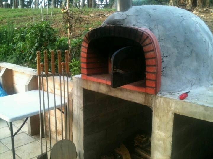 Pizza oven in waiting