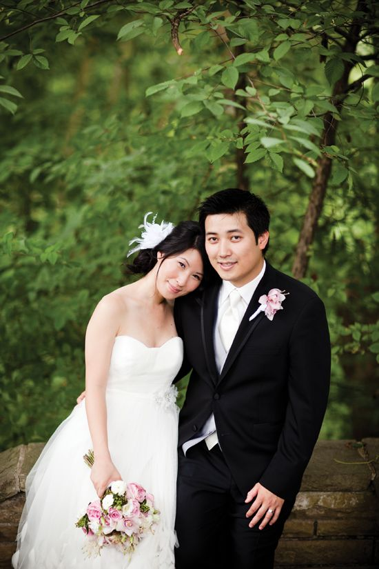Romantic pink wedding featured in weddingbells.