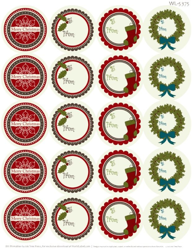 A Rustic Christmas Printable Label Set | Worldlabel Blog