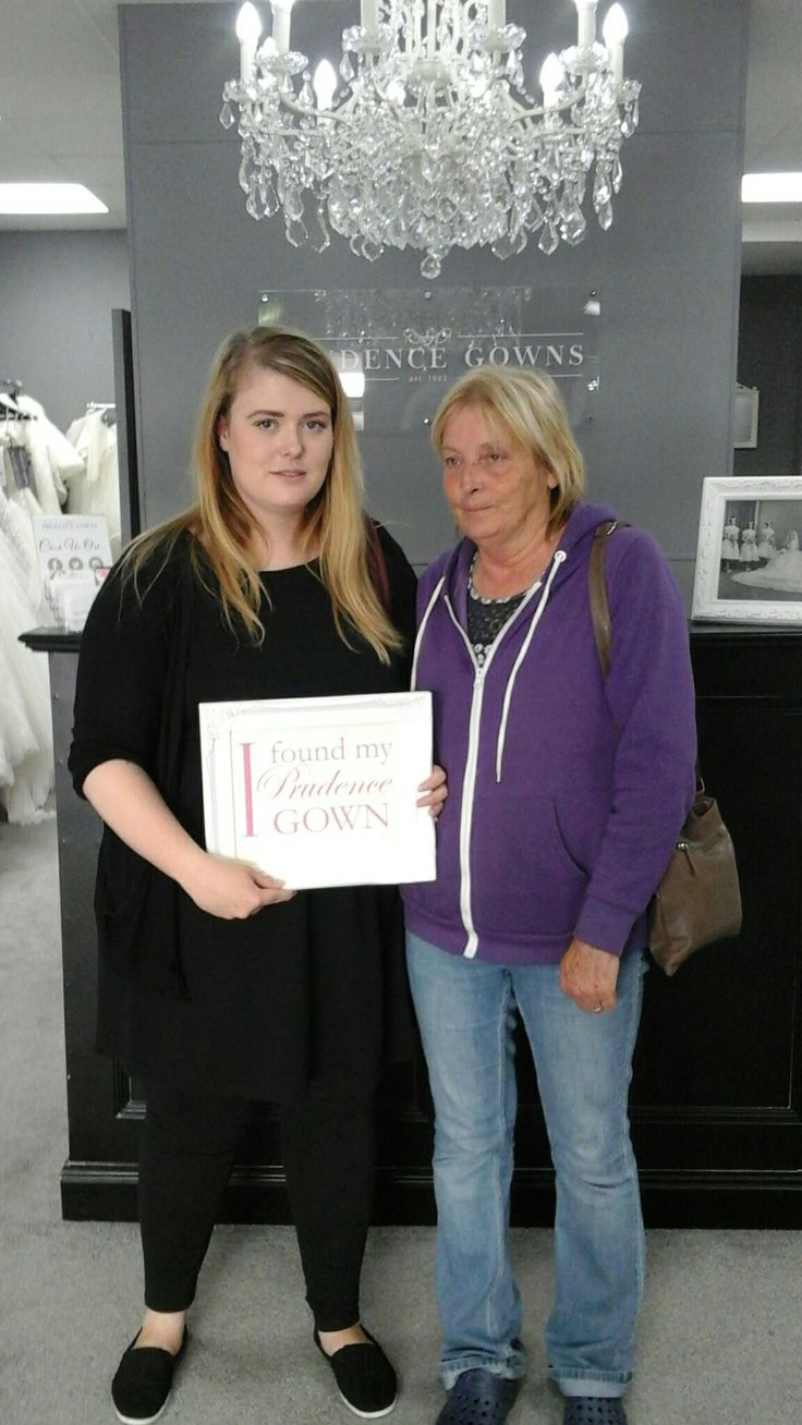 Our new #bride Becky found her #weddingdress in our #Exeter store today. YAY! #DressingYourDreams #PrudenceGowns