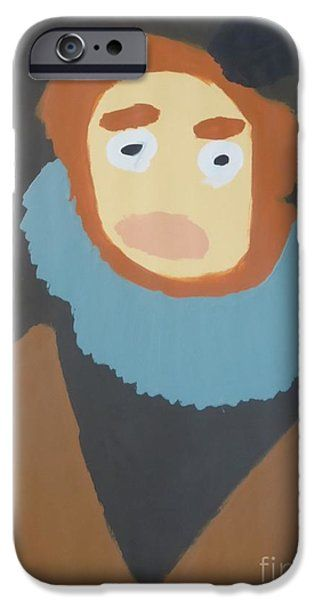 Patrick Francis IPhone Case featuring the painting Portrait Of Maria Anna 2015 - After Diego Velazquez by Patrick Francis