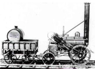 LA LOCOMOTORA A VAPOR DE AGUA EL SISTEMA DE STEPHENSON  ENTRE EL 6 Y EL 14 de octubre de 1829, se reunieron en Rainhill, Inglaterra, cinco máquinas mas de aspecto poco atrayente en una competencia que haría historia ferroviaria, a fin de escoger la mejor locomotora para el nuevo ferrocarril Liverpool-Manchester. Concursaron grandes talentos de la ingeniería de la época.