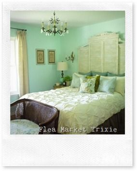 if those are louver doors with add ons to make a great cottage style headboard