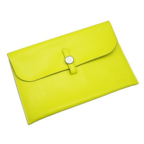 Gary & Ghost Samsung NOTE 8.0 / Google Nexus 7 FHD 2nd Gen/ Samsung Tab2 7-inch - Stylish Genuine Leather Envelope Carrying Case Sleeve with Fashionable Strap Buckle Closure (Yellow) by D-Park, http://www.amazon.co.uk/dp/B00IJVBIQC/ref=cm_sw_r_pi_dp_0yjvtb0CGP32G