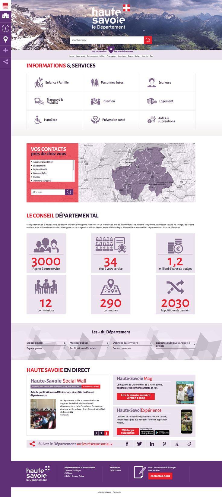 Conception du site internet du Département de la Haute-Savoie.>> http: