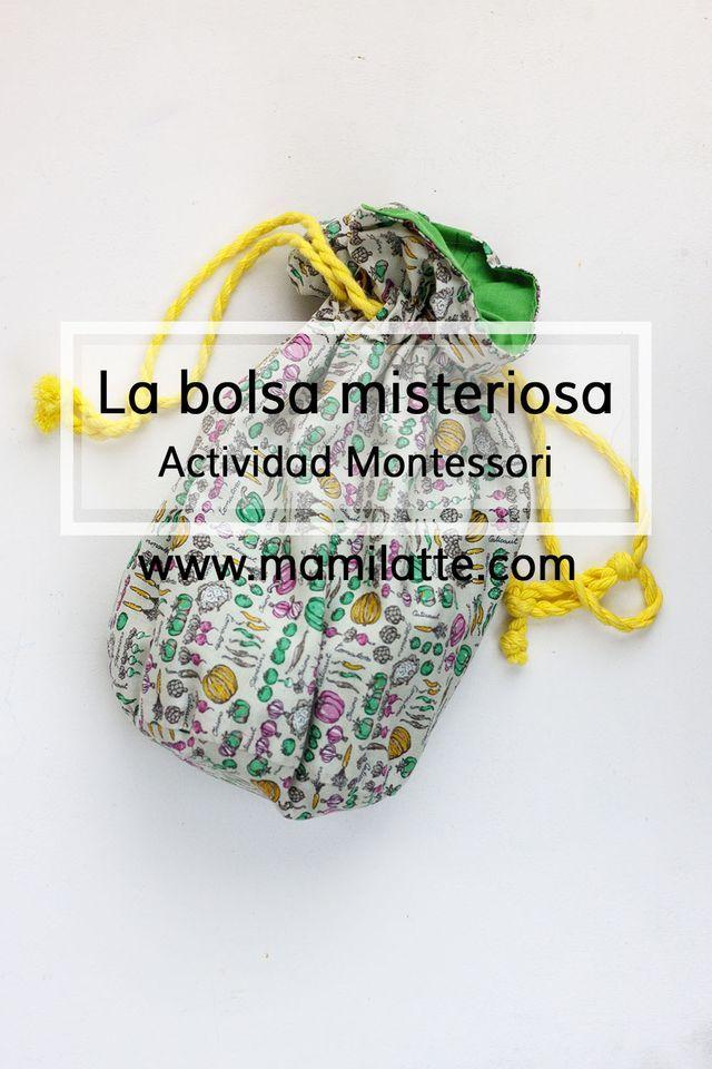 Hoy os vengo hablar de una de las actividades Montessori que resulta muy atractiva para los más pequeños, la bolsa misteriosa. Se trata de una bolsa de tela bonita que se cierra con cordones en la cuá