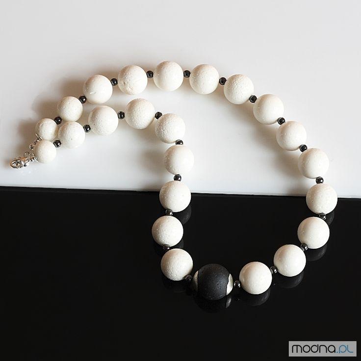 Naszyjniki Biało-czarny naszyjnik