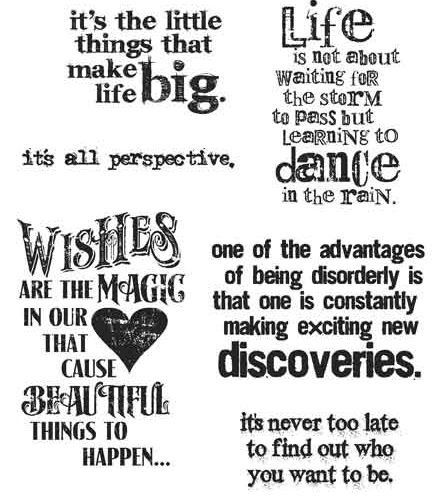 Stampers Anonymous - Tim Holtz - Cling Mounted Rubber Stamp Set - Good Thoughts