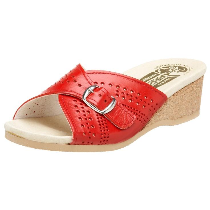 Worishofer 251 Sandals in red