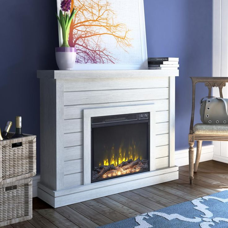 Twin Star Home 47 38 In Wall Mantel Electric Fireplace In Omni Sargent Oak 23wm6603 Po101s The Home Depot In 2021 Electric Fireplace Freestanding Fireplace Free Standing Electric Fireplace