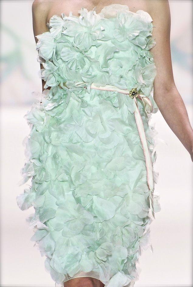 Monique Lhuillier S/S 2011: Monique Lhuillier, Pastel, Fashion, Mint Green, Color, Wedding, Dresses, Moniquelhuillier, Haute Couture